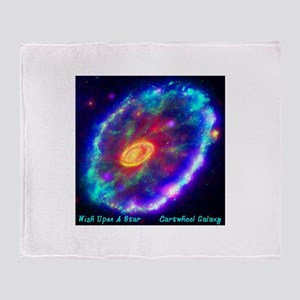 Cartwheel Galaxy Throw Blanket