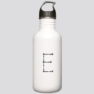 Barbed Wire Monogram E Water Bottle