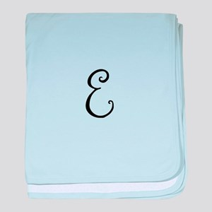 Bellyfish Monogram E baby blanket