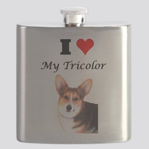 I Love my Tricolor Flask