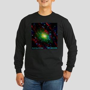 M31 Andromeda Galaxy Long Sleeve Dark T-Shirt