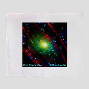 M31 Andromeda Galaxy Throw Blanket