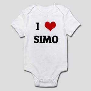 I love simo baby clothes accessories cafepress i love simo infant bodysuit thecheapjerseys Choice Image
