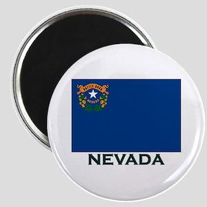 Nevada Flag Gear Magnet