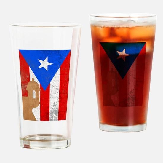 Puerto rico el moro Drinking Glass