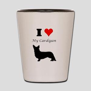 I Love My Cardigan Shot Glass