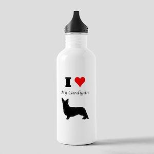 I Love My Cardigan Water Bottle