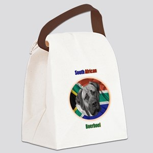 South African Flage Dark Canvas Lunch Bag