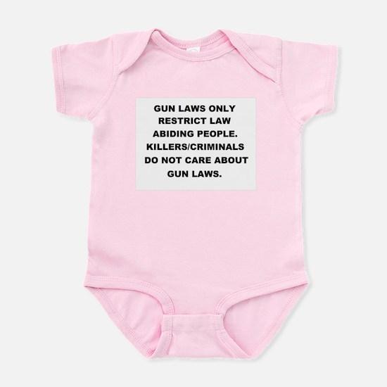 gun laws 2 Infant Bodysuit