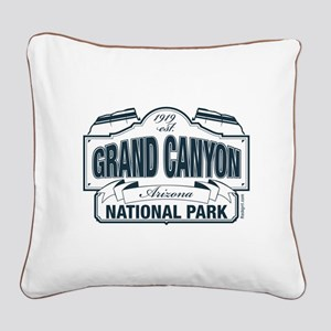 Grand Canyon National Park Square Canvas Pillow