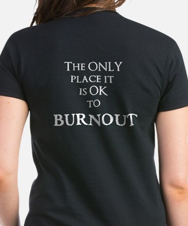 Women's Dark T-Shirt Burnout Logo