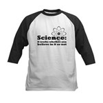 Science Works No Matter What Kids Baseball Jersey