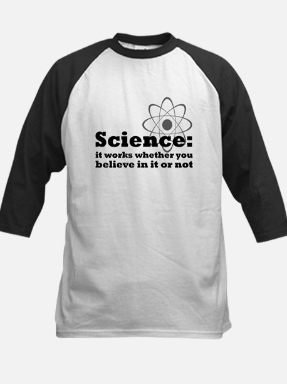 Science Works No Matter What Kids Baseball Jersey