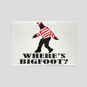 WHERE'S BIGFOOT? Rectangle Magnet