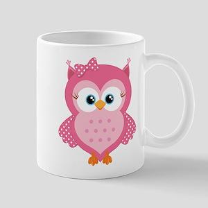 Sweet Pink Cartoon Owl Mug