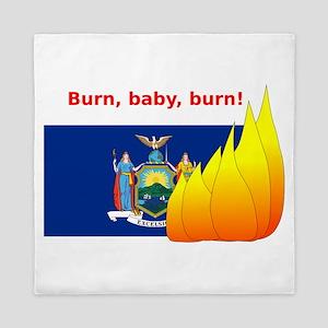 New York State Flag Burn Queen Duvet