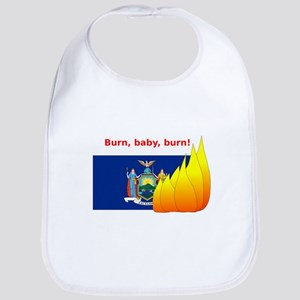 New York State Flag Burn Bib