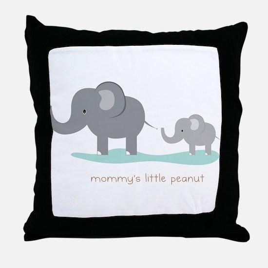 Mommy's Little Peanut Throw Pillow