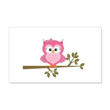 Pink Owl On Branch