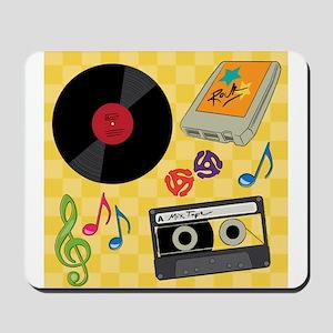 Retro Music Collection Mousepad