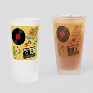 Retro Music Collection Drinking Glass