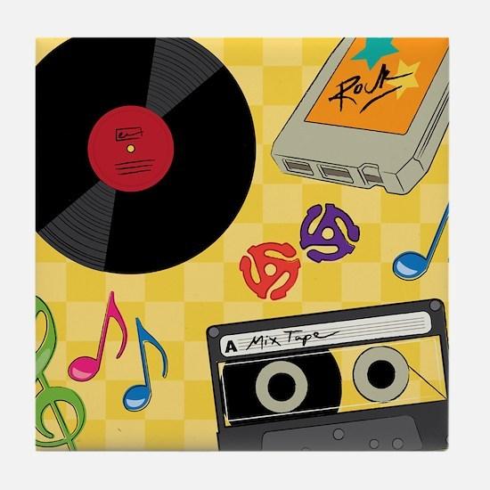 Retro Music Collection Tile Coaster