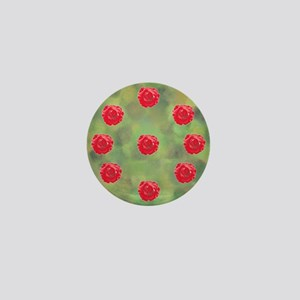 Red rose ornament on spring green and yellow Mini