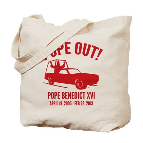 Pope Out Tote Bag