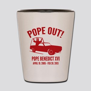 Pope Out Shot Glass