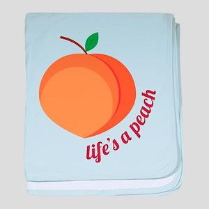 Life's a Peach baby blanket