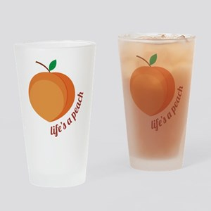 Life's a Peach Drinking Glass