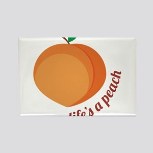 Life's a Peach Rectangle Magnet