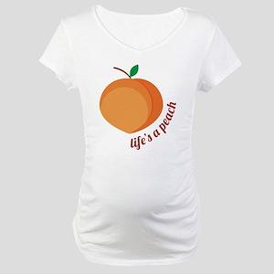 Life's a Peach Maternity T-Shirt