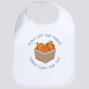 Love Your Peaches Bib