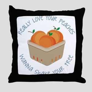 Love Your Peaches Throw Pillow