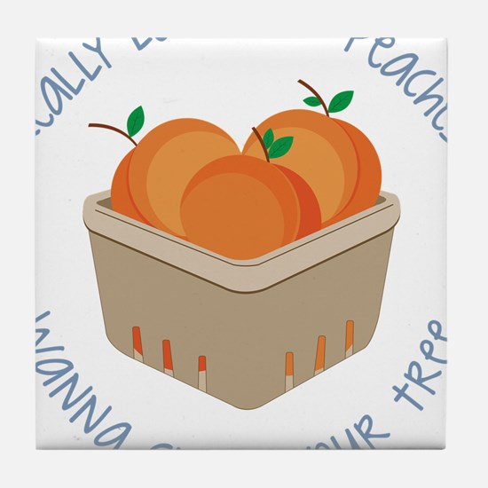 Love Your Peaches Tile Coaster