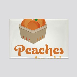 Peaches For Sale Rectangle Magnet