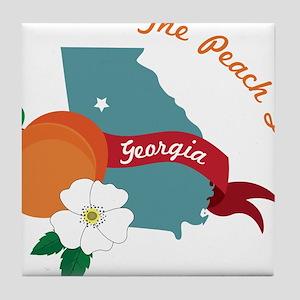The Peach State Tile Coaster