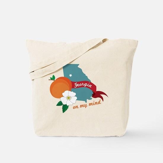 Georgia On My Mind Tote Bag