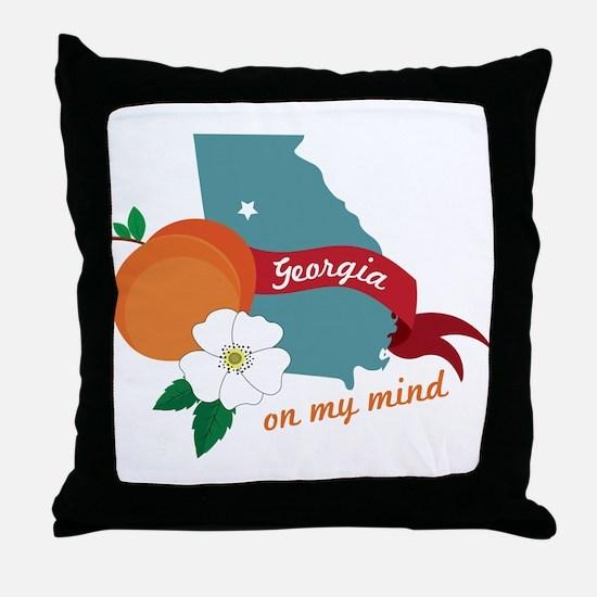 Georgia On My Mind Throw Pillow
