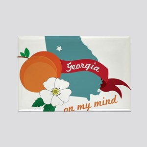 Georgia On My Mind Rectangle Magnet