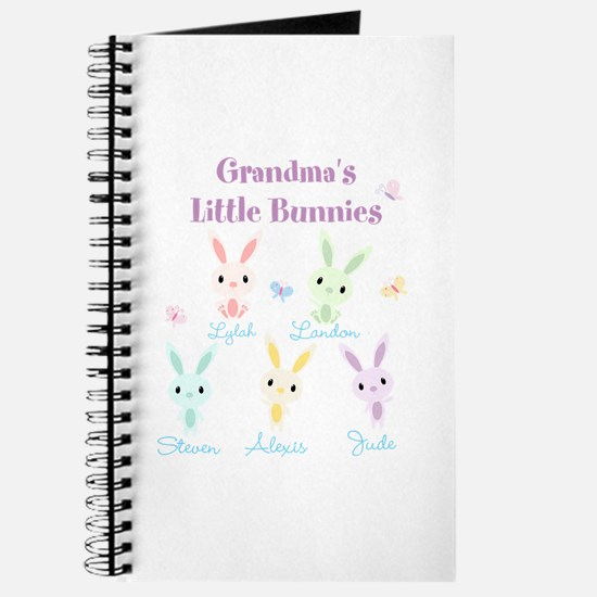 Grandmas little bunnies custom Journal