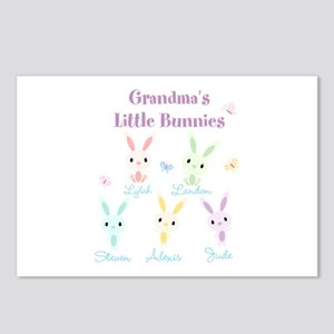 Grandmas little bunnies custom Postcards (Package