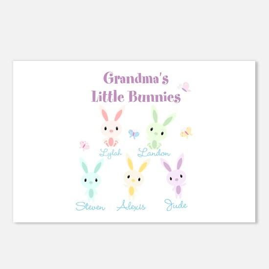 Grandmas little bunnies custom Postcards (Package