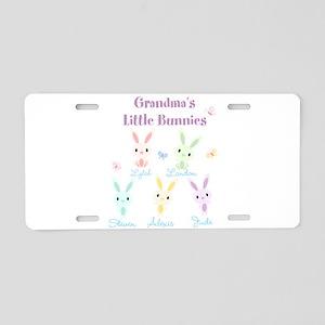 Grandmas little bunnies custom Aluminum License Pl