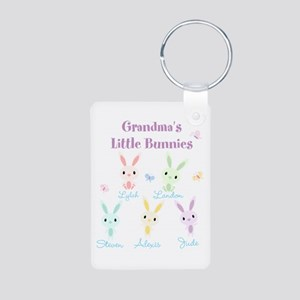 Grandmas little bunnies custom Keychains