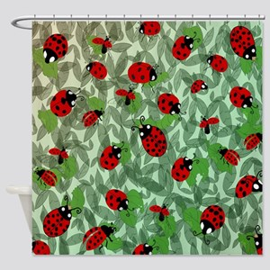 Ladybug Shower Curtain