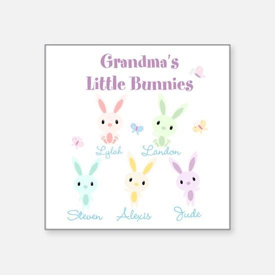 Grandmas little bunnies custom Sticker