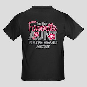 Favorite Aunt Kids Dark T-Shirt