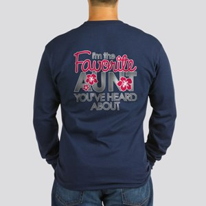 Favorite Aunt Long Sleeve Dark T-Shirt